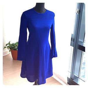 Vince Camuto sweater dress royal blue